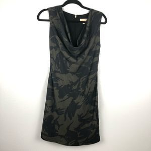 MICHAEL MICHAEL KORS camo green black mini dress